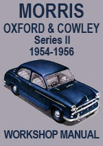 Morris Oxfrod and Cowley 1954-1956 Workshop Manual